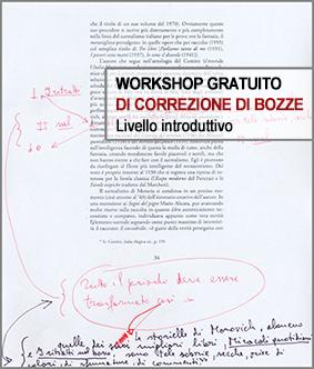 Workshop gratuito di Correzione di bozze
